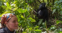 Kieke and Mountain Gorilla - Uganda (Slide)