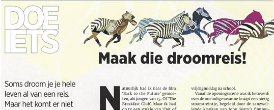 New Exposure in Dutch Newspaper for Rhino Watch Safaris!